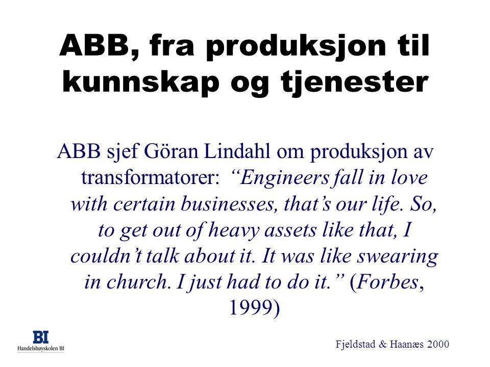 ABB, fra produksjon til kunnskap og tjenester