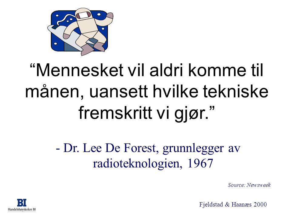 - Dr. Lee De Forest, grunnlegger av radioteknologien, 1967