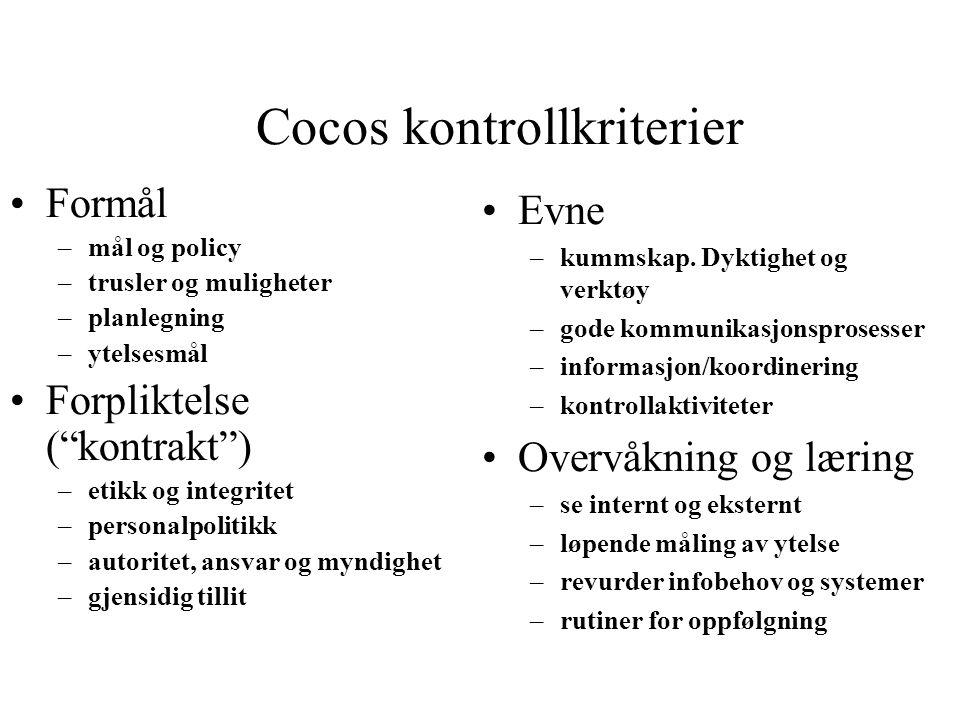 Cocos kontrollkriterier