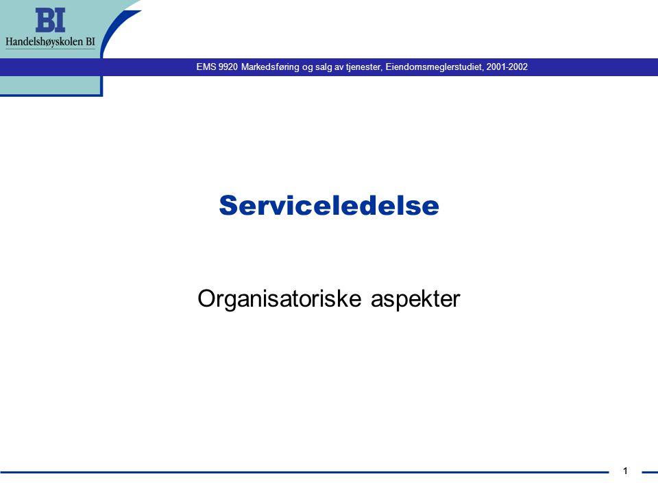 Organisatoriske aspekter