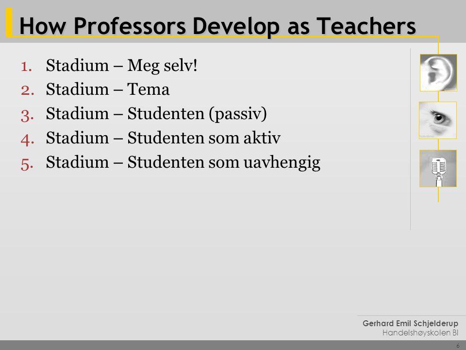 How Professors Develop as Teachers