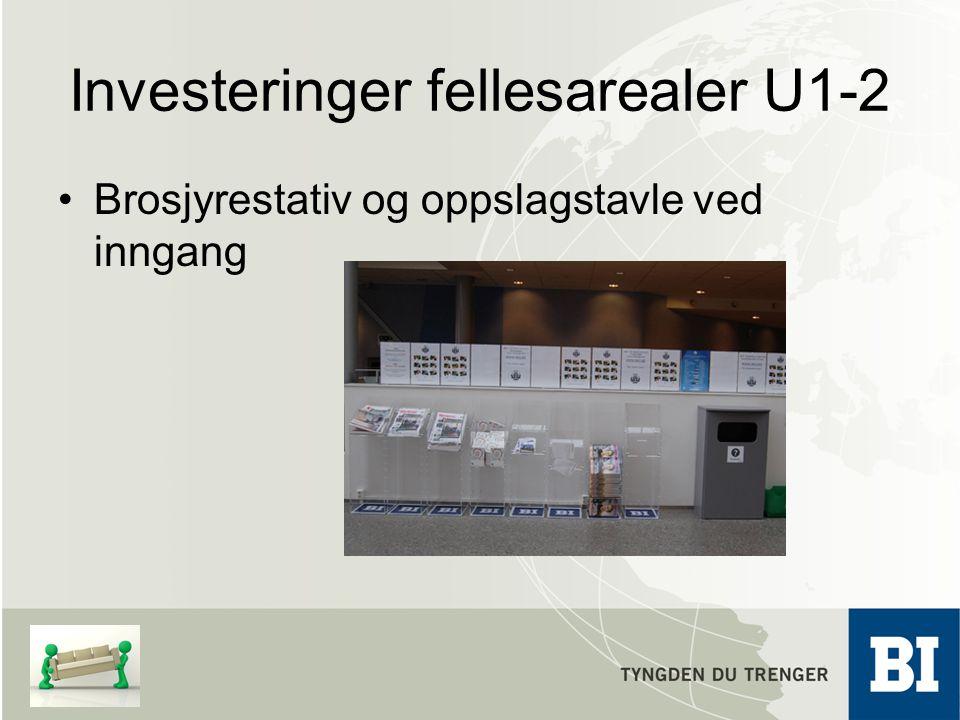 Investeringer fellesarealer U1-2