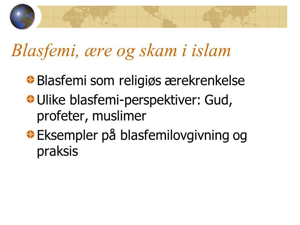 Blasfemi, ære og skam i islam