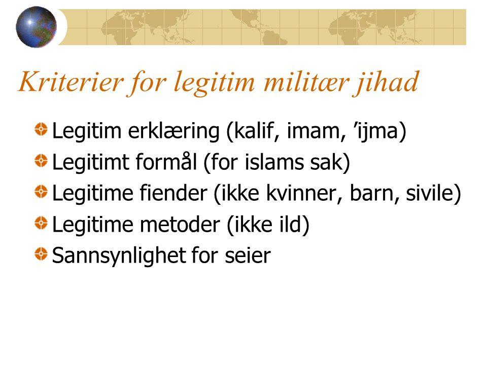 Kriterier for legitim militær jihad