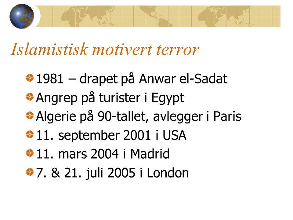 Islamistisk motivert terror