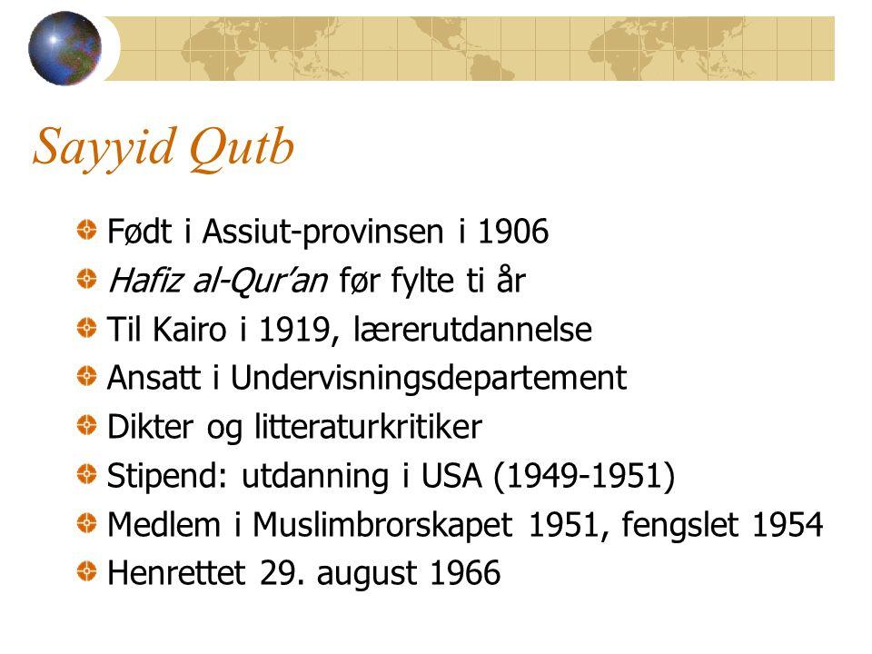 Sayyid Qutb Født i Assiut-provinsen i 1906