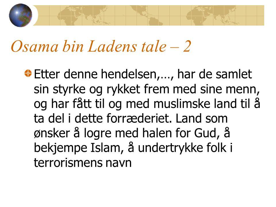 Osama bin Ladens tale – 2