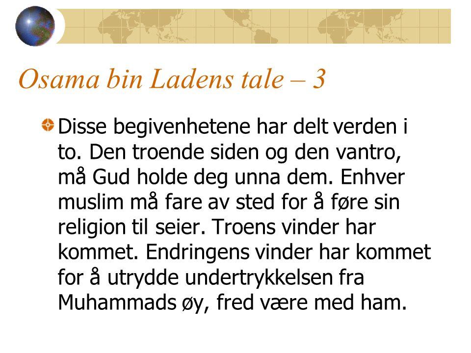 Osama bin Ladens tale – 3