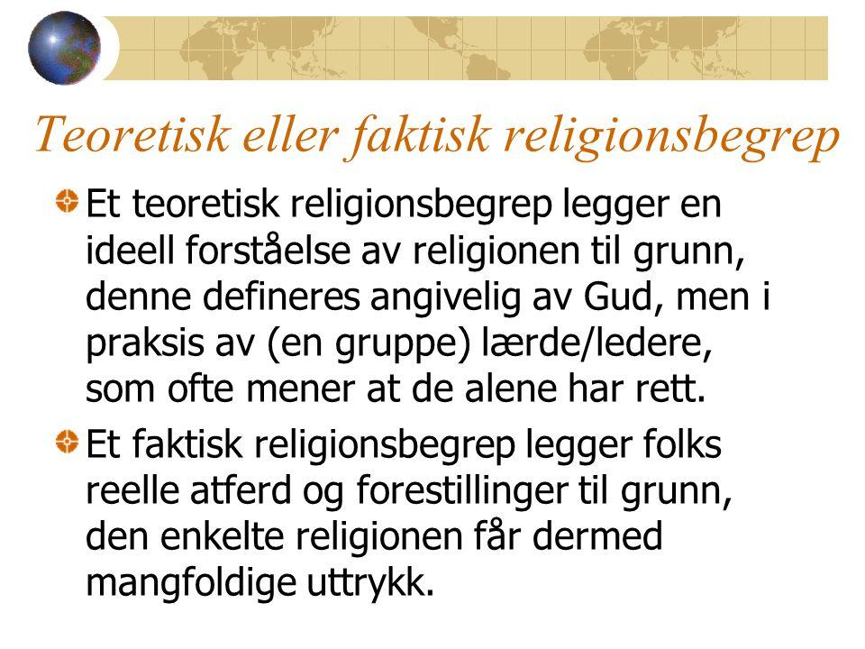 Teoretisk eller faktisk religionsbegrep