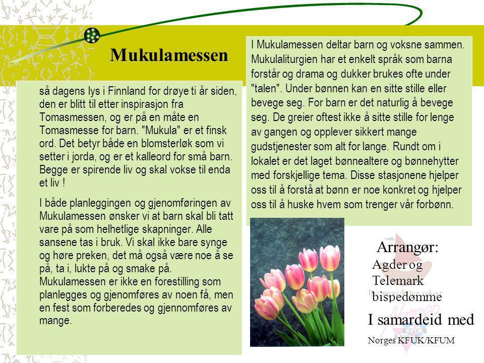 Mukulamessen Arrangør: Agder og Telemark bispedømme I samardeid med