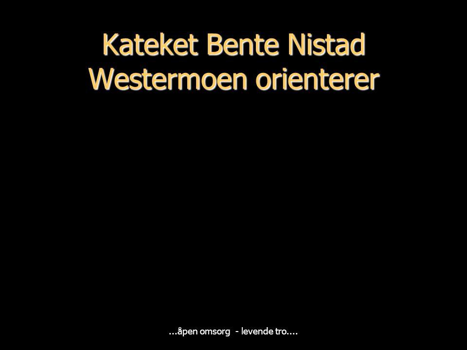 Kateket Bente Nistad Westermoen orienterer