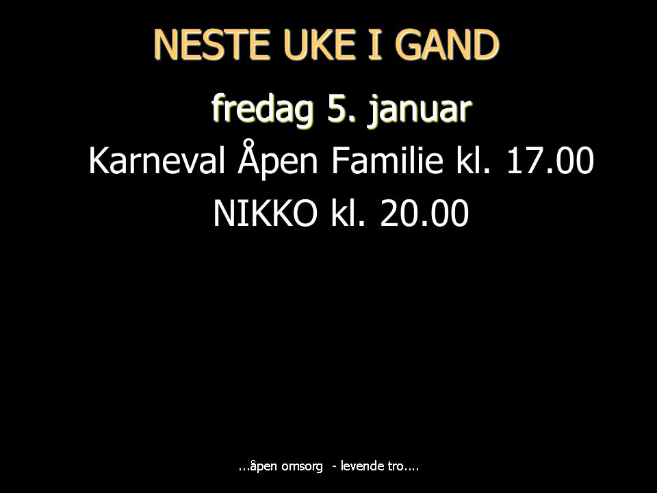 Karneval Åpen Familie kl. 17.00