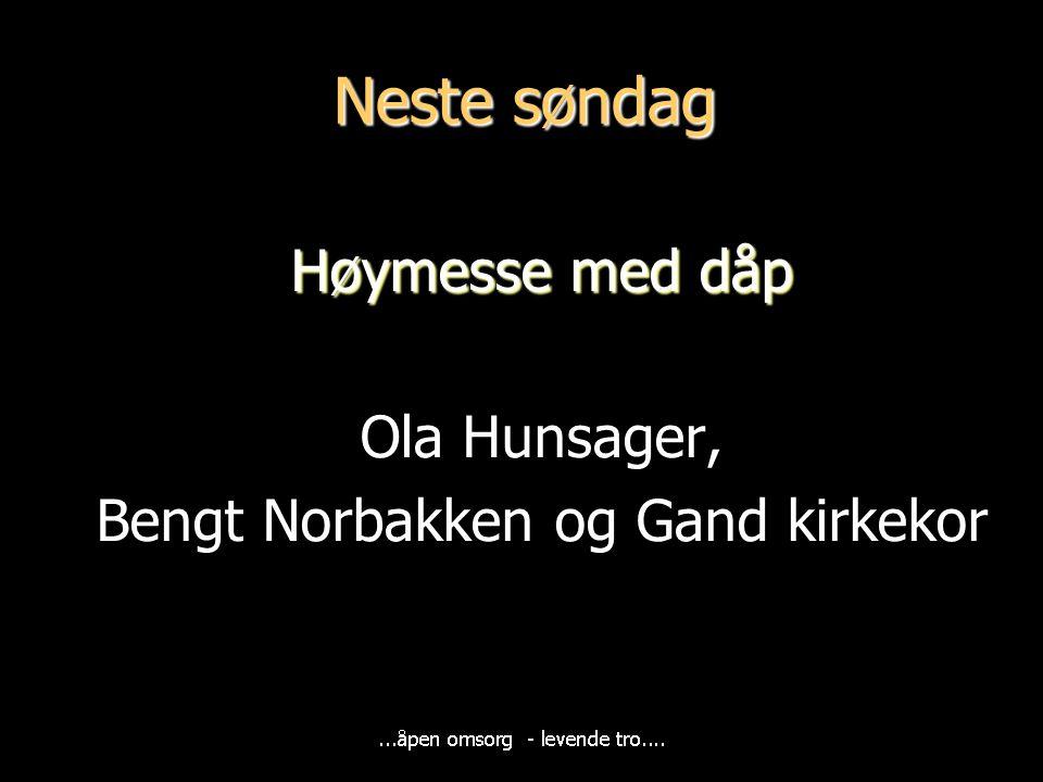 Bengt Norbakken og Gand kirkekor