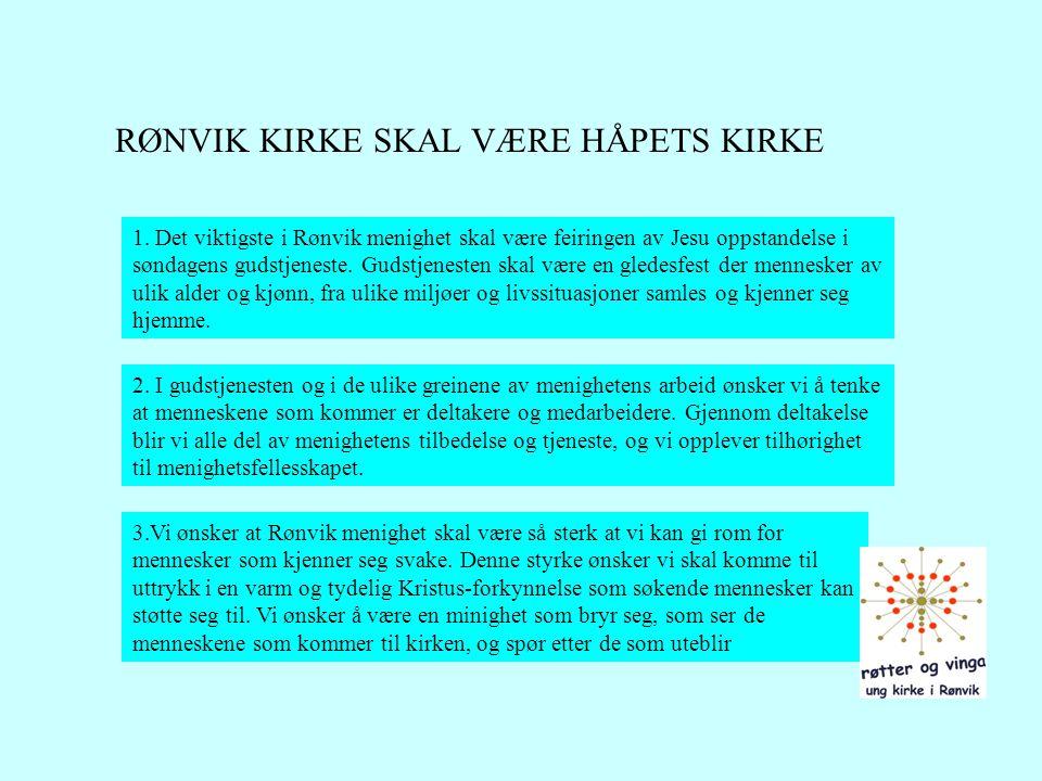 RØNVIK KIRKE SKAL VÆRE HÅPETS KIRKE
