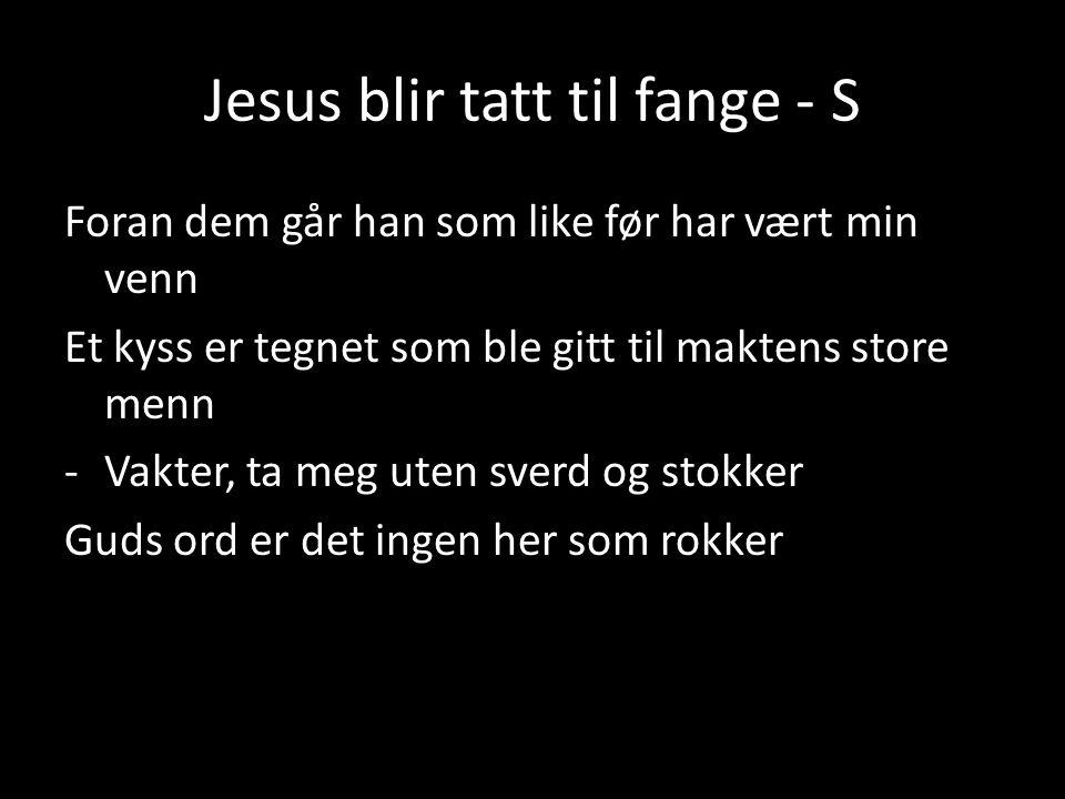 Jesus blir tatt til fange - S