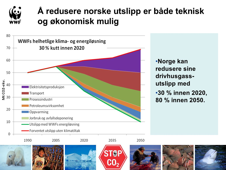 Å redusere norske utslipp er både teknisk og økonomisk mulig