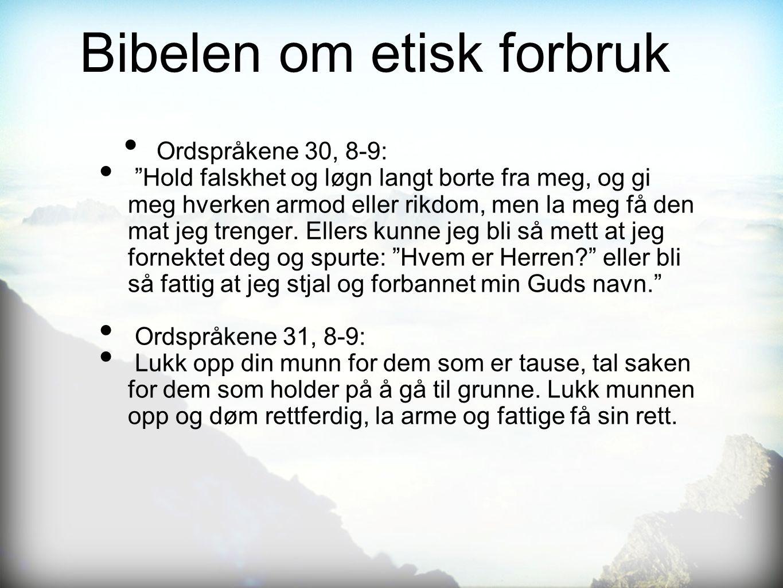 Bibelen om etisk forbruk