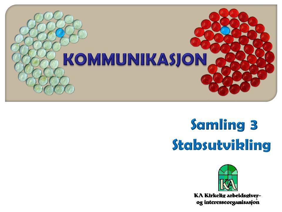 KOMMUNIKASJON Samling 3 Stabsutvikling