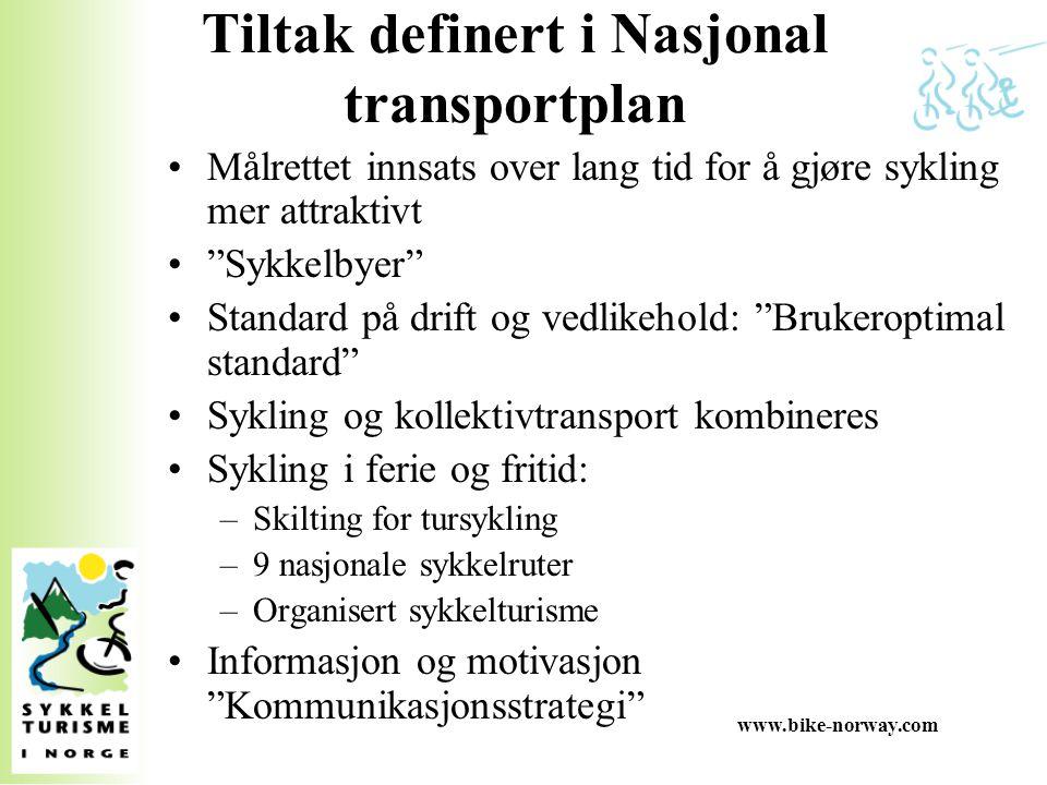 Tiltak definert i Nasjonal transportplan