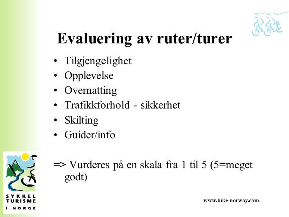 Evaluering av ruter/turer