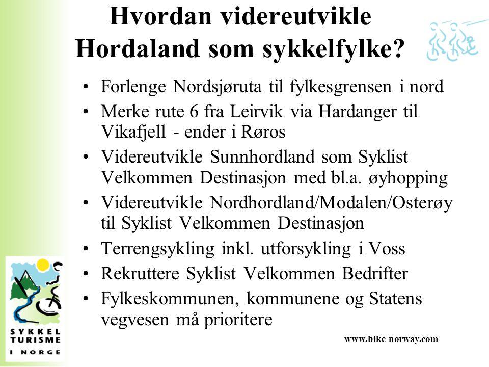 Hvordan videreutvikle Hordaland som sykkelfylke