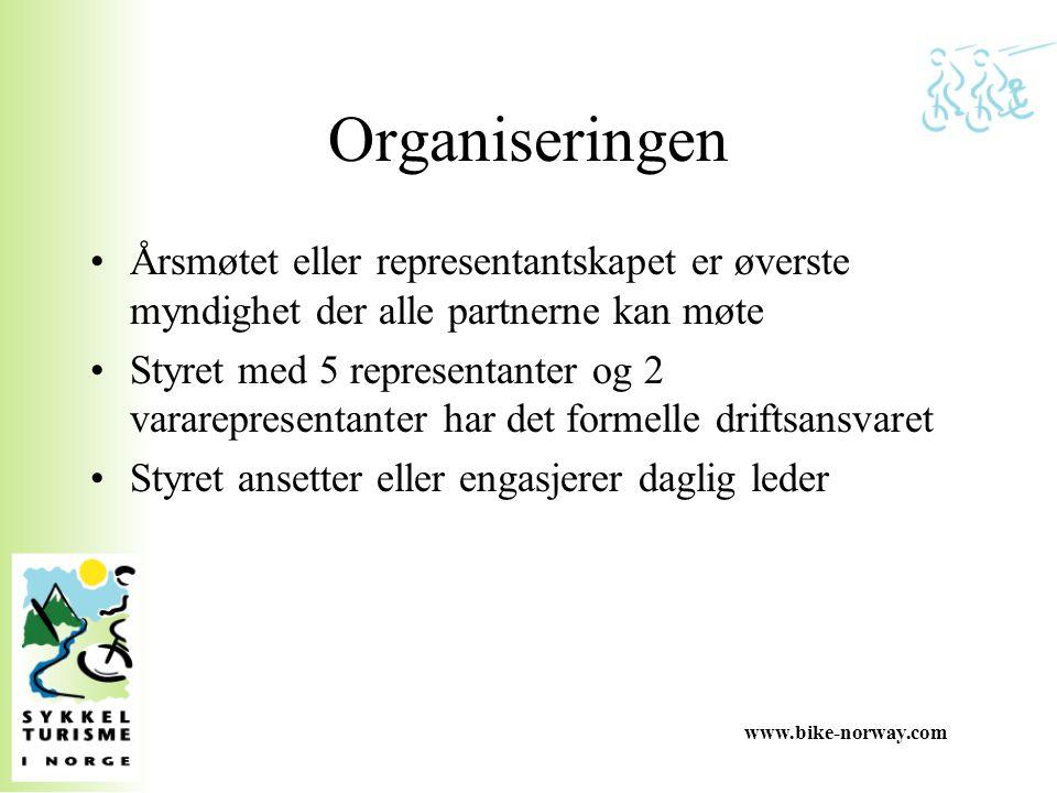 Organiseringen Årsmøtet eller representantskapet er øverste myndighet der alle partnerne kan møte.