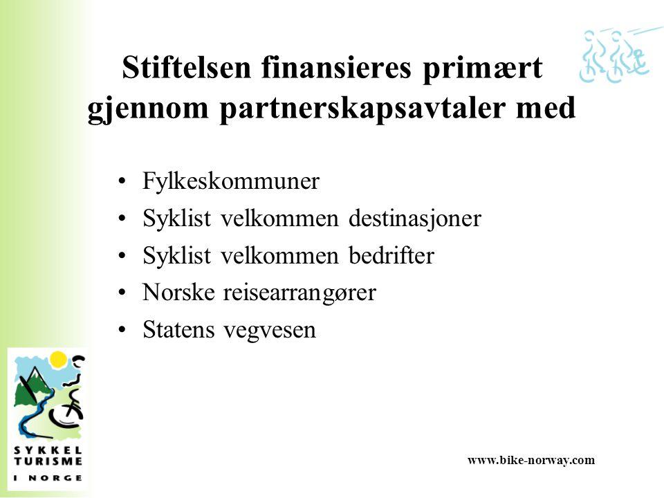 Stiftelsen finansieres primært gjennom partnerskapsavtaler med