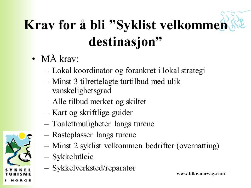 Krav for å bli Syklist velkommen destinasjon