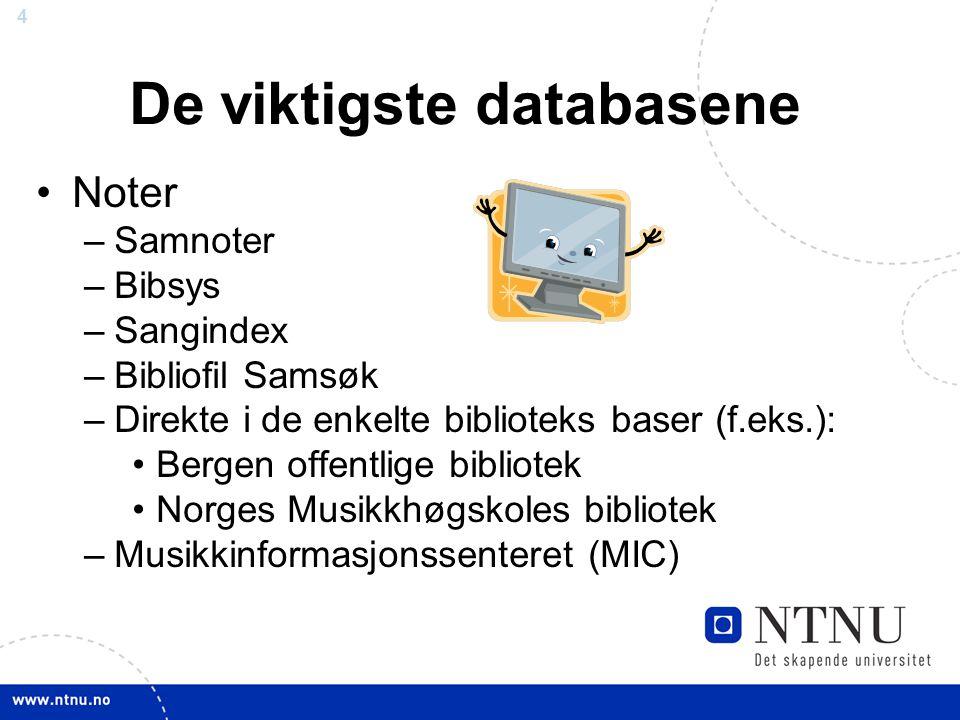De viktigste databasene