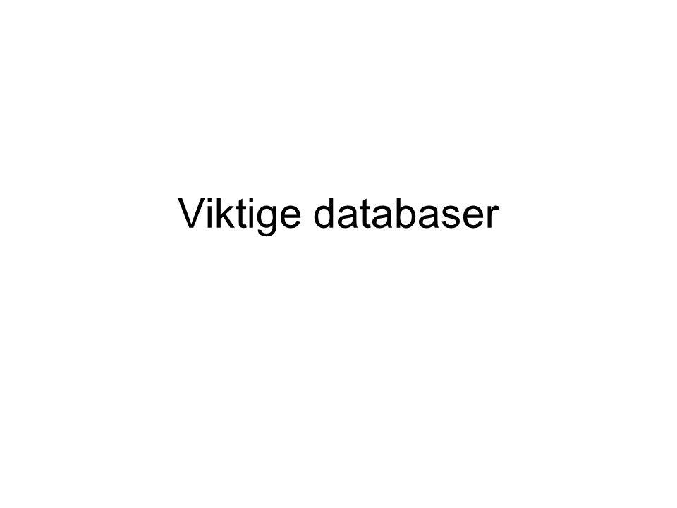 Viktige databaser