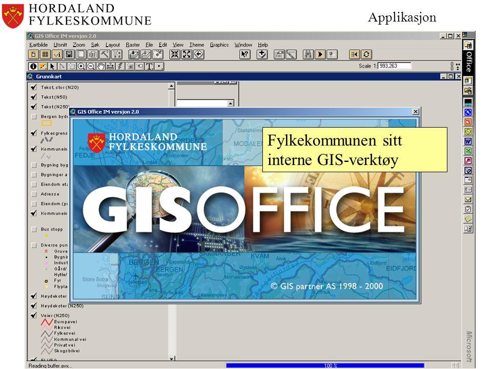 Fylkekommunen sitt interne GIS-verktøy