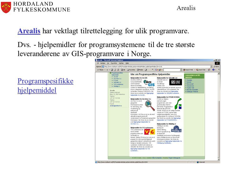 Arealis har vektlagt tilrettelegging for ulik programvare.