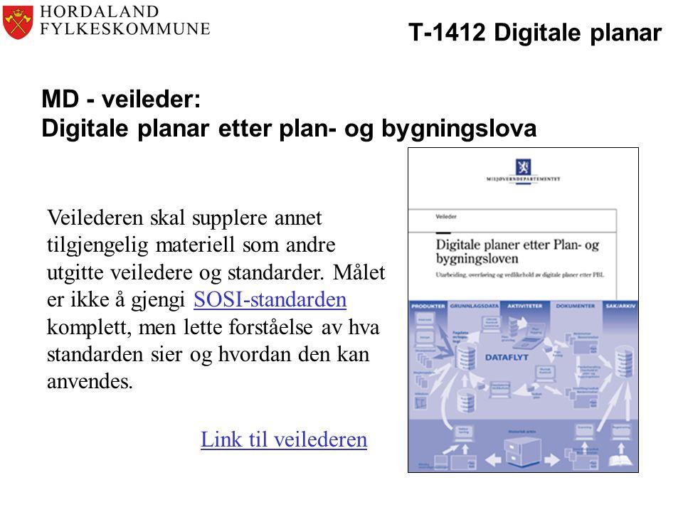 MD - veileder: Digitale planar etter plan- og bygningslova
