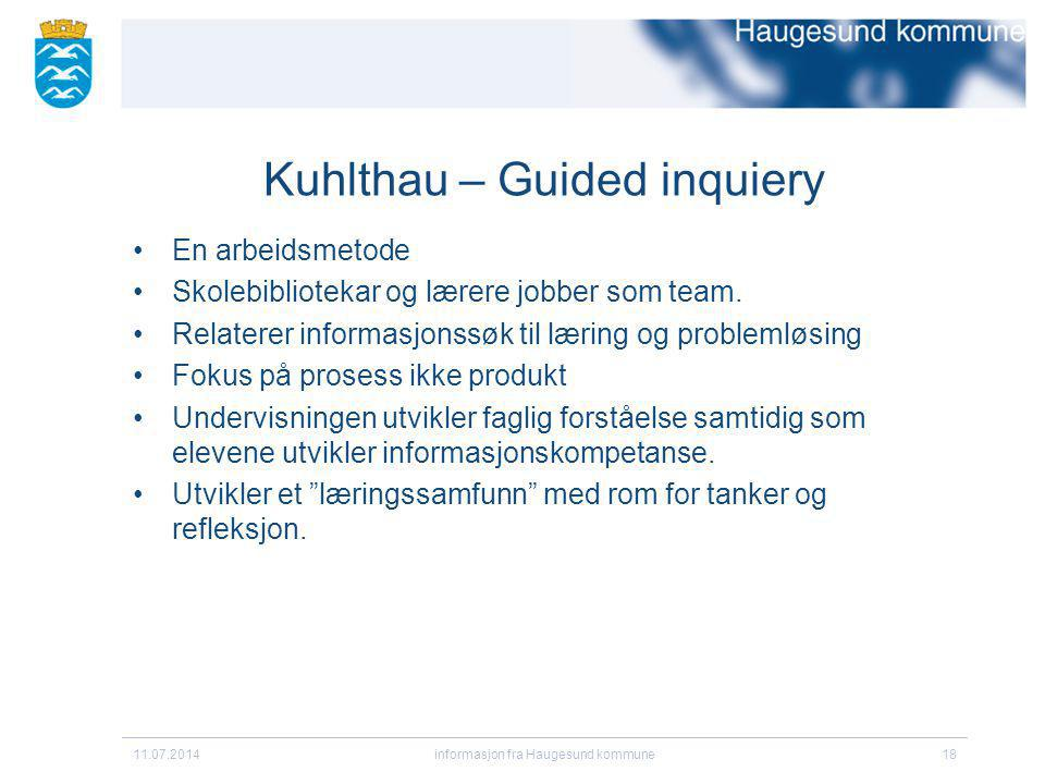 Kuhlthau – Guided inquiery