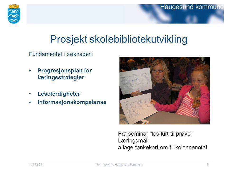 Prosjekt skolebibliotekutvikling