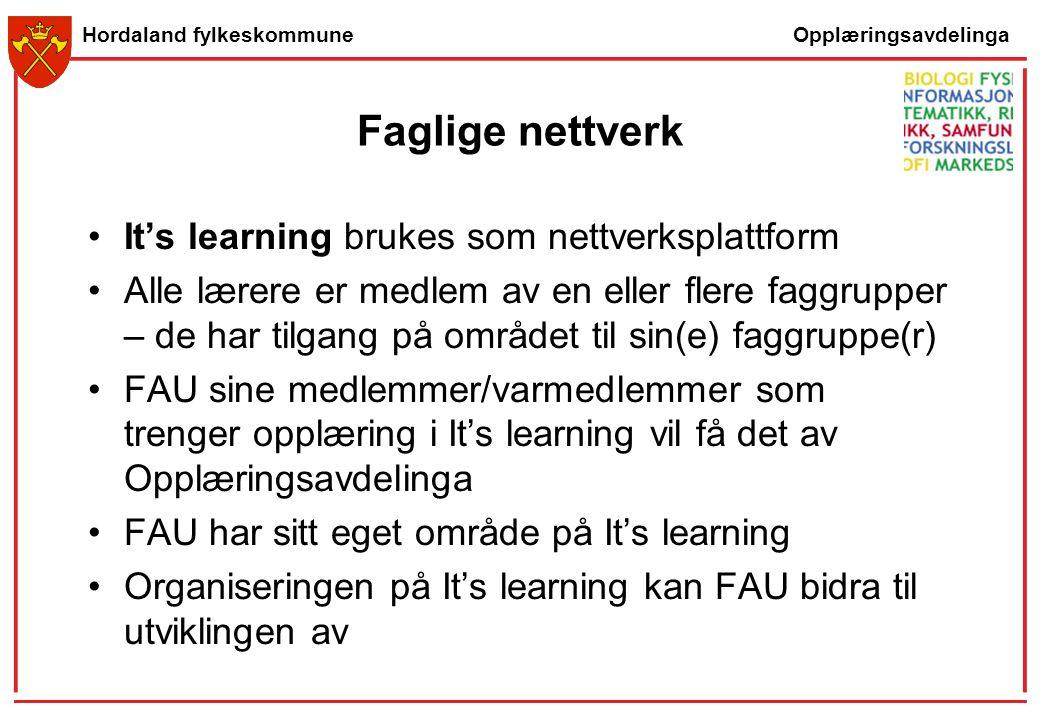 Faglige nettverk It's learning brukes som nettverksplattform