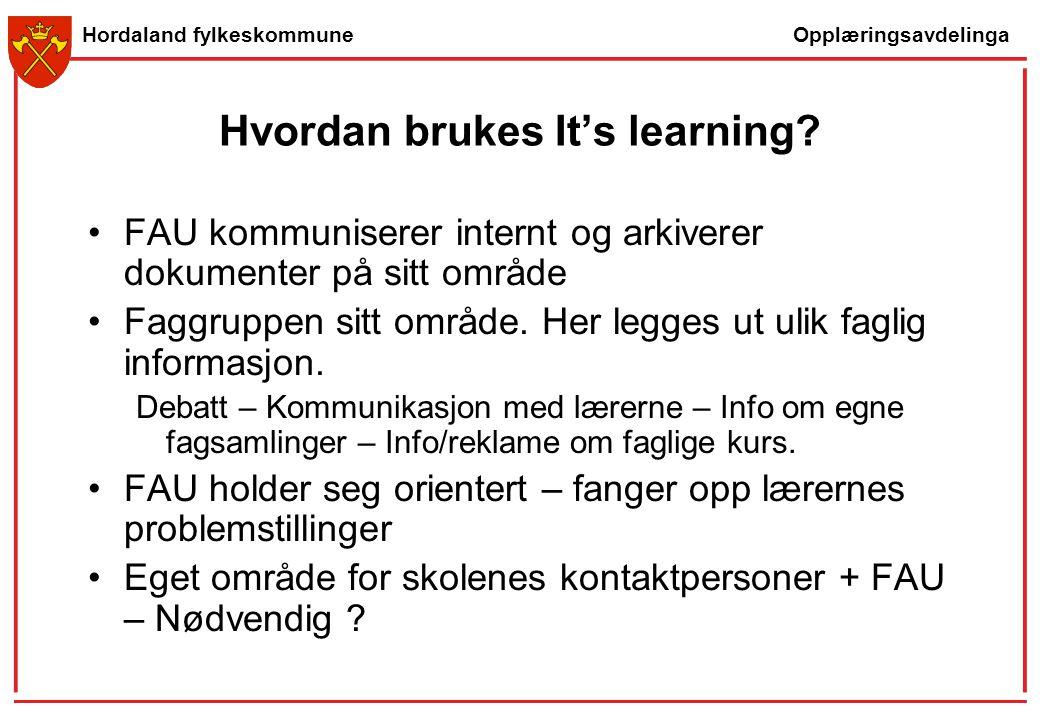Hvordan brukes It's learning
