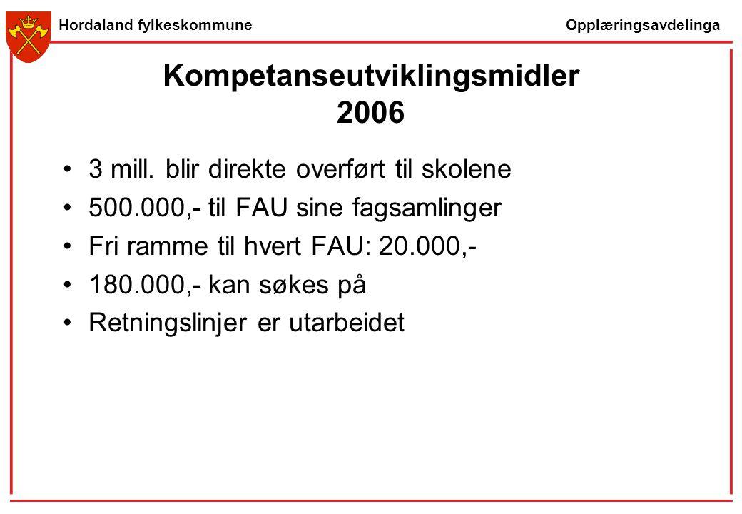 Kompetanseutviklingsmidler 2006