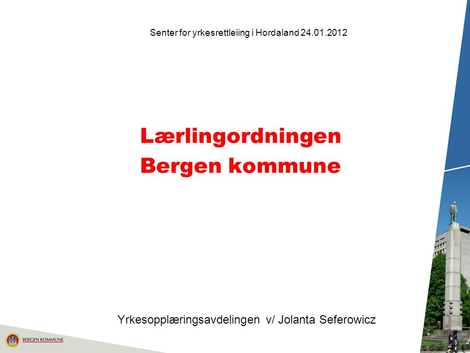 Lærlingordningen Bergen kommune