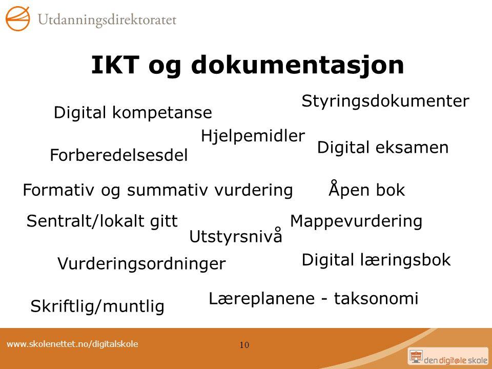 IKT og dokumentasjon Styringsdokumenter Digital kompetanse