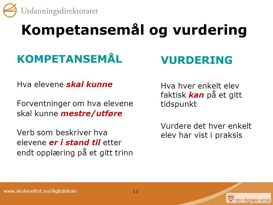 Kompetansemål og vurdering