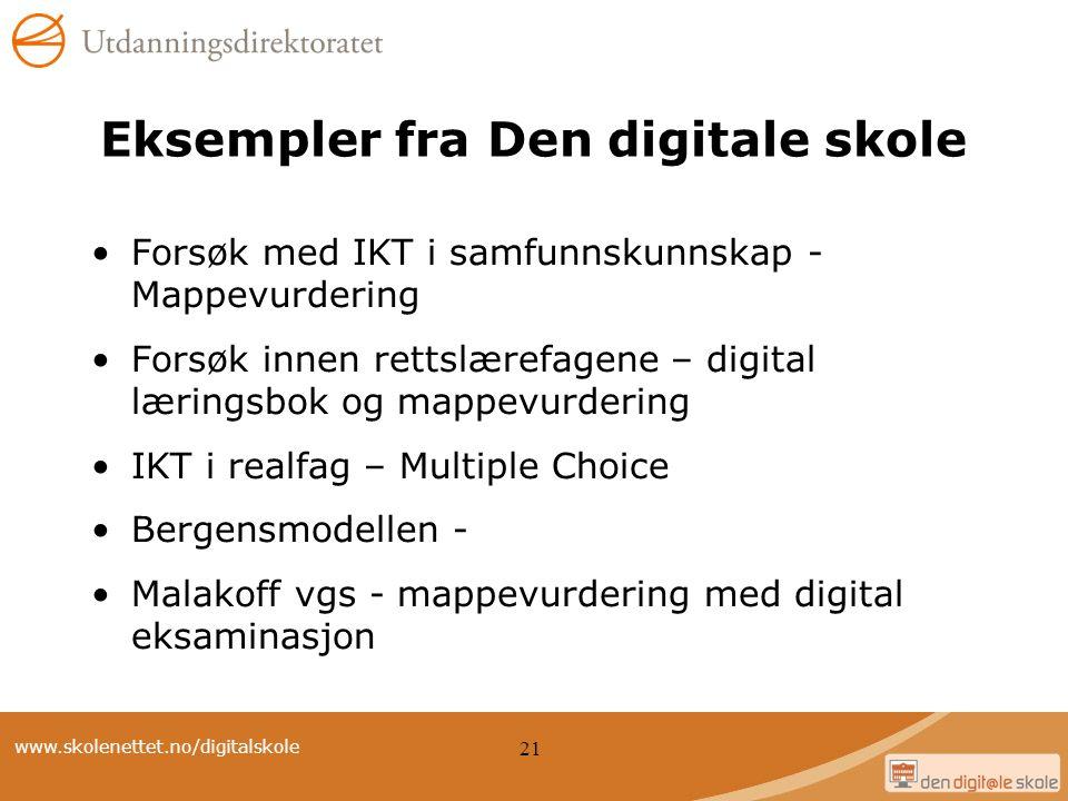 Eksempler fra Den digitale skole