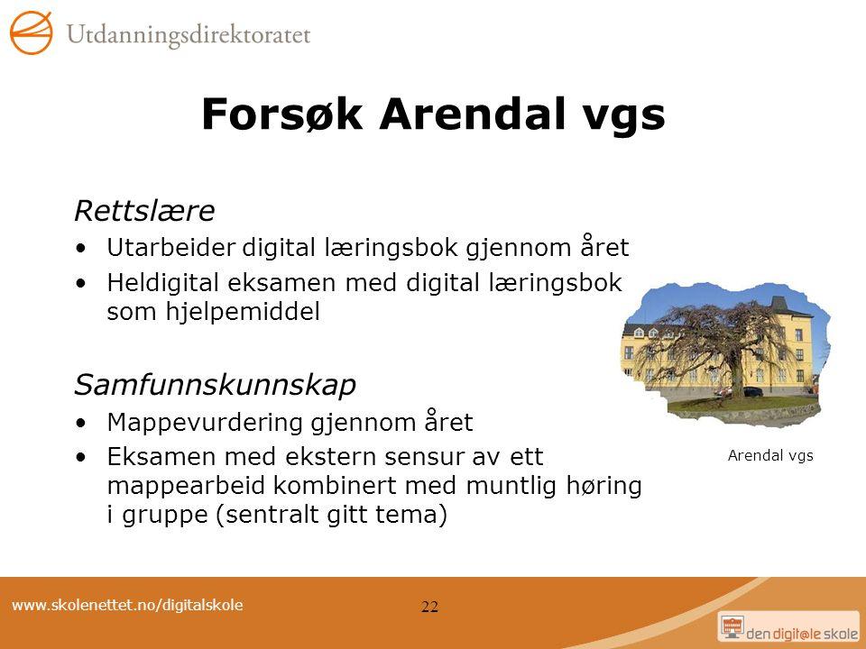Forsøk Arendal vgs Rettslære Samfunnskunnskap