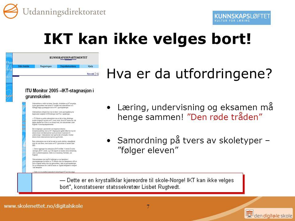 IKT kan ikke velges bort!