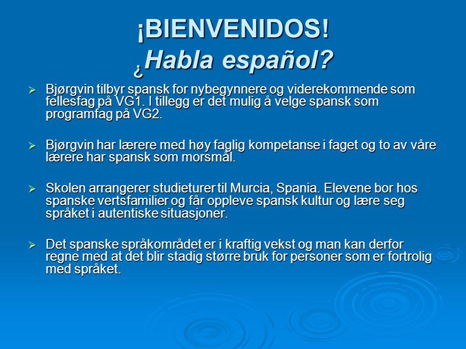 ¡BIENVENIDOS! ¿Habla español