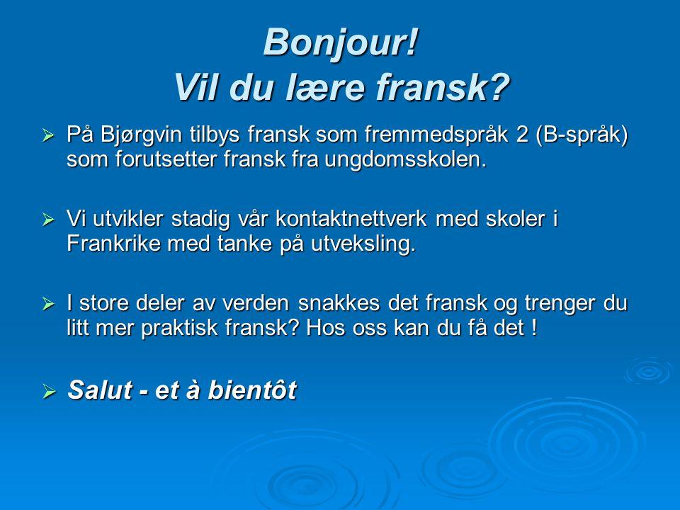 Bonjour! Vil du lære fransk