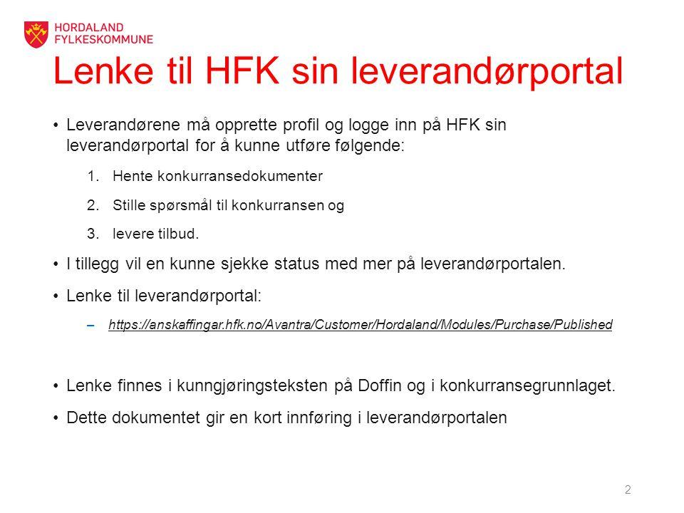 Lenke til HFK sin leverandørportal