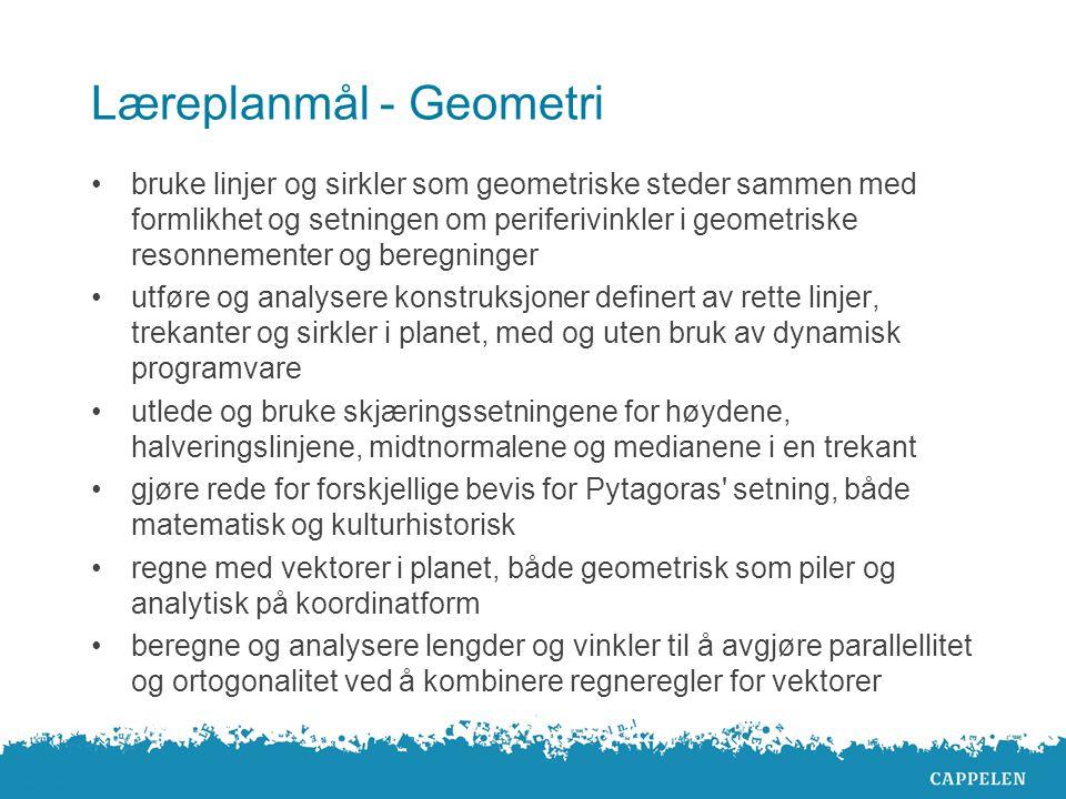 Læreplanmål - Geometri
