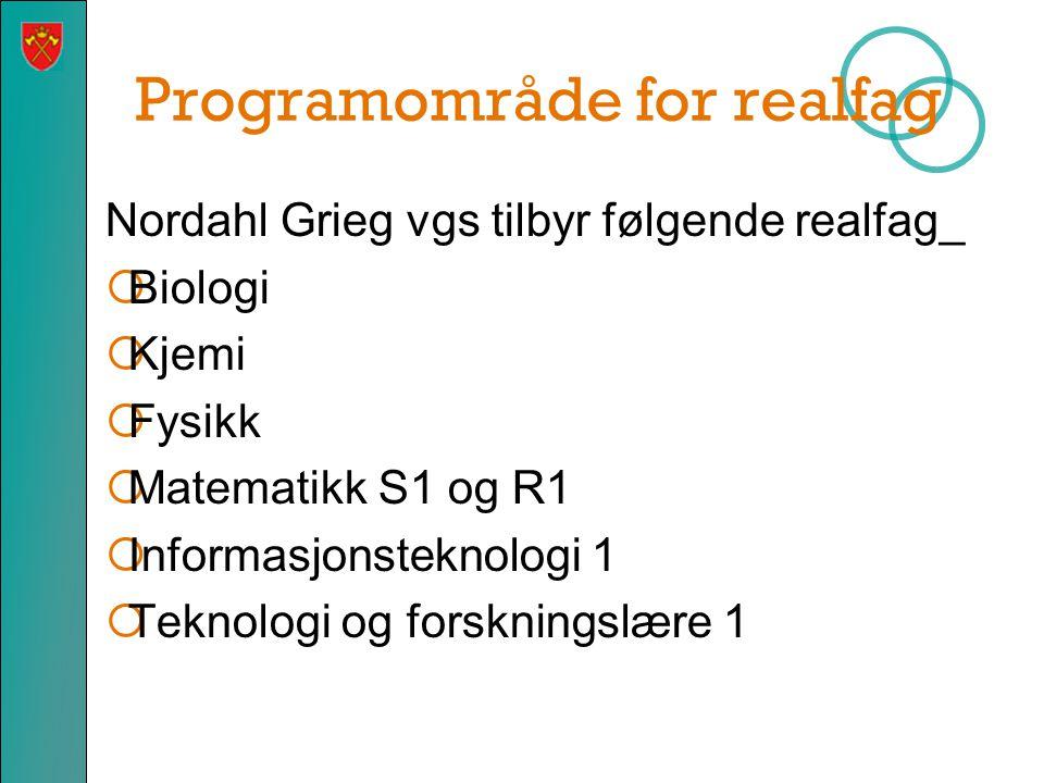 Programområde for realfag