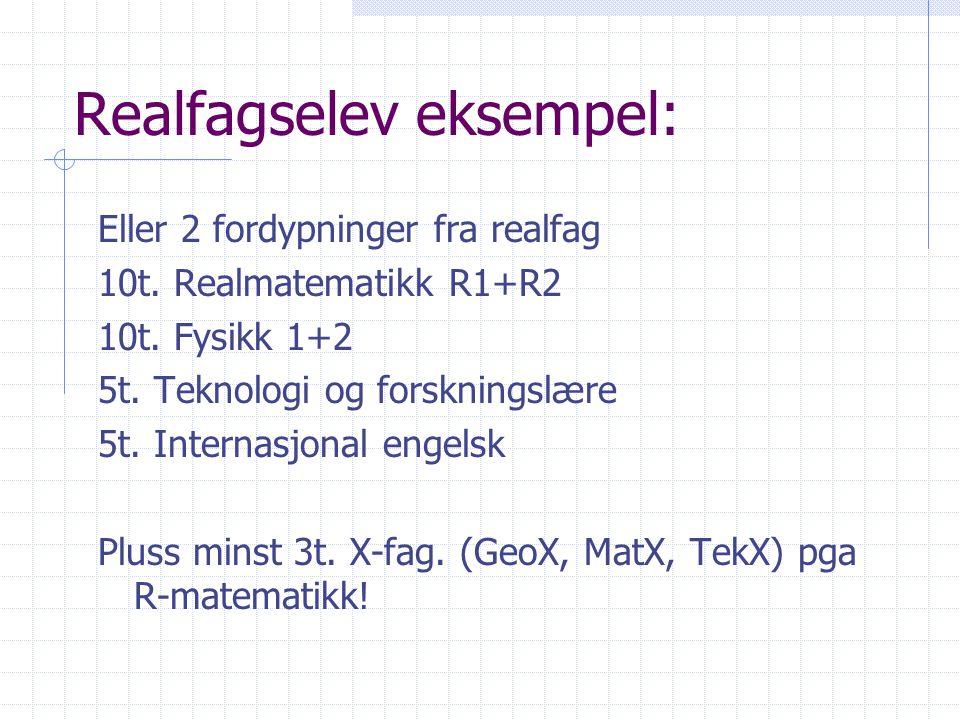 Realfagselev eksempel: